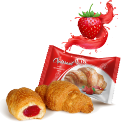 "#81410 ""LUKAS"" CROISSANT W/ STRAWBERRY FILLING 45G/24PC"
