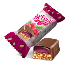 "#81445 ""LUKAS"" CANDIES 'BIFESTI' W/ RASPBERRY FLAVOR 8kg (8pc x 1kg)"