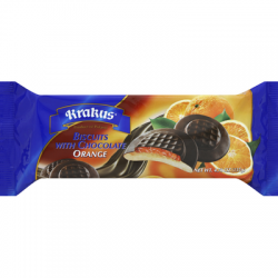 """KRAKUS""  ORANGE  BISCUITS W/CHOCOLATE   135GRX21PC"