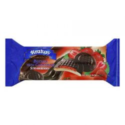 """KRAKUS""   STRAWBERRY BISCUITS W/CHOCOLATE   135GRX21"