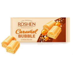 Aerated White chocolate w/Caramel 80gr/20pc