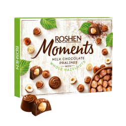 """Moments"" Milk chocolate with whole hazelnut 120gr/10pc"