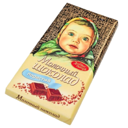 """Alenka"" Milk AERATED Chocolate  100gr/14pc"