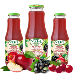Apple-Cranberry-Blackcurrant Juice  1L/8pc