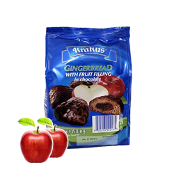 GINGERBREAD W/Apple in Chocolate  160gr/12pc