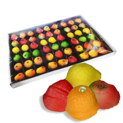 ASSORTED FRUIT MARZIPAN 25OZ / 8PC