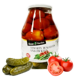 Assorty Pickles & Tomatoes  88.2oz/6pc