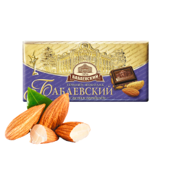 """Babaevskiy"" Chocolate With Almond  100gr/15pc"
