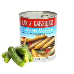 Babushka cucumbers 19oz/12pc