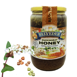 """BELVEDER"" BUCKWHEAT HONEY 900G / 6PC"
