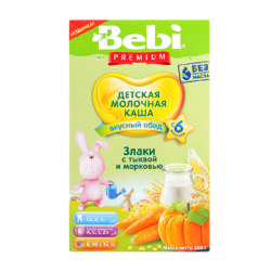 """BEBI"" CORN / WHEAT w/ CARROT AND PUMPKIN 200G/9PC"