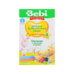"""BEBI"" OAT FLAKES w / FOREST BERRIES 200G/9PC"
