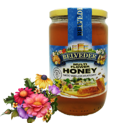 """BELVEDER"" MULTIFLOWER HONEY 900G / 6PC"