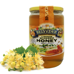 """BELVEDER"" LINDEN HONEY 900G / 6PC"