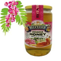 """BELVEDER"" ACACIA HONEY 900G / 6PC"