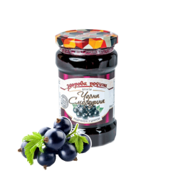 "Black Currant Proterty With Sugar ""Zdorova Rodina"" Glass 350gr/12pc"