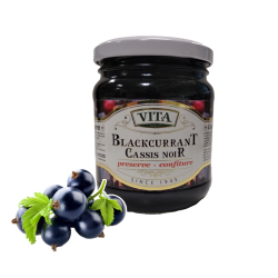 Blackcurrant Preserves  325gr/12pc