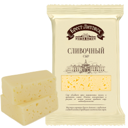 """BREST-LETOVSK"" SLIVOCHNIY CHEESE  50% 200GR/10PC"