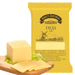 """BREST-LETOVSK"" gauda CHEESE  45% 200GR/10PC"