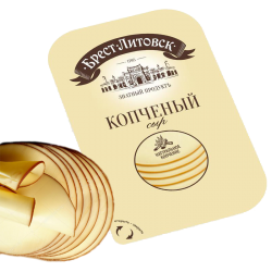 """BREST-LETOVSK"" SMOKED CHEESE  50% 150GR/10PC"