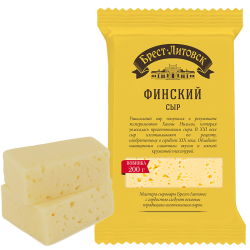 """BREST-LETOVSK"" FINSKIY CHEESE 45% 200GR/10PC"