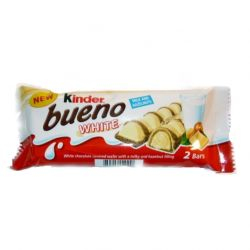 Bueno White w/Hazelnut Filling in Milk Chocolate  40gr/30pc