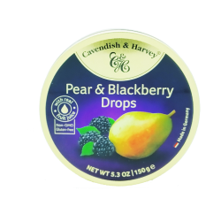 Candies drops tin pear and blackberry 5.3OZ/12PC