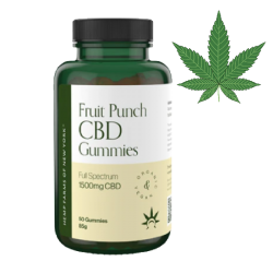 CBD FRUIT PUNCH GUMMIES 1500MG 80G/8PC