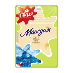 "Cheese ""Maasdam"" 45% Sliced 150gr/16pc"