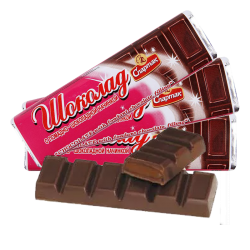 Chocolate Bar w/chocolate-creamy filling 48gr/52pc