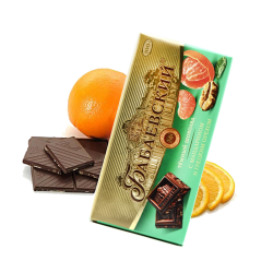 Dark Chocolate w/Mandarins & walnut 100gr/17pc