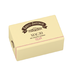 "UNSALTED SWEET CREAM BUTTER ""BREST LITOVSK"". 72.5% 180G/20"
