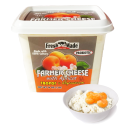 Farmer Cheese with Apricot 16oz/12pc