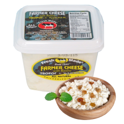 Farmer Cheese with Raisin 16oz/12pc