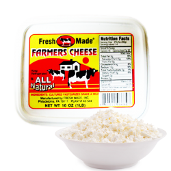Farmer Cheese Plain 16oz/12pc
