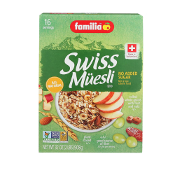 """Familia"" Sugar FREE swiss muesli 2lb/6pc"