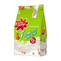 Farmer cheese 15% FAT 370gr/8pc bag