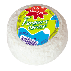 Farmer cheese Lituanian 0.5% FAT 300gr/6pc
