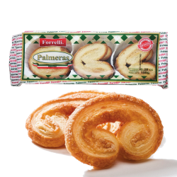 """Forrelli"" Puff Pastry Cookies Palmeras 150gr/18pc"