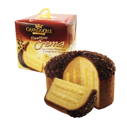 """Grand Ducale"" PANETTONE CREMA w/Cocoa and Cocoa flakes (kulich) 750gr/11pc (RED)"