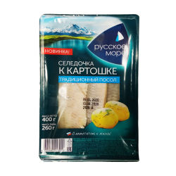 "HERRING FILLET ""K KARTOSHKE"" IN OIL 400GR/6PC"