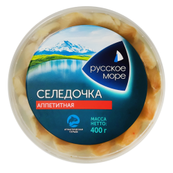 "HERRING FILLET ""APPETITNAYA"" IN OIL 400GR/6PC"
