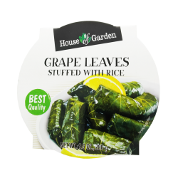 ''HOUSE OF GARDEN'' GRAPE LEAVES STUFFED WITH RICE 9.9OZ / 12PCS