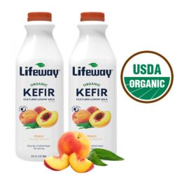 Organic Kefir Peach 1lt/6pc