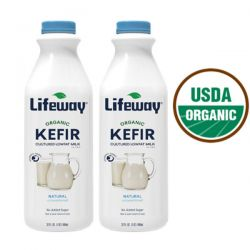 Kefir Organic Plain 1lt/6pc