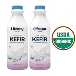 Organic Kefir Whole Milk Plain 1lt/6pc