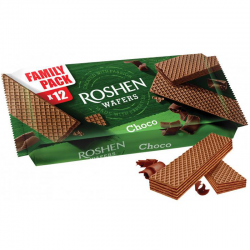 """Roshen"" wafer w/Chocolate filling 216g/11pc"
