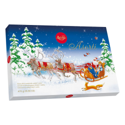 Laima  ASSORTY SLEDGE w/ST.CLAUS GIFT BOX 470gr/12pc