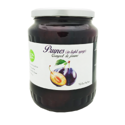"""Livada"" Compot Prunes in light Syrup 720gr/12pc"
