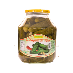 Marinated Gherkins With Hot Pepper 1.7L/4pc